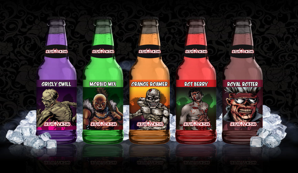 Deadworld Zombie Soda, Halloween soda, halloween drink, halloween, zombie, deadworld, deadworld zombie